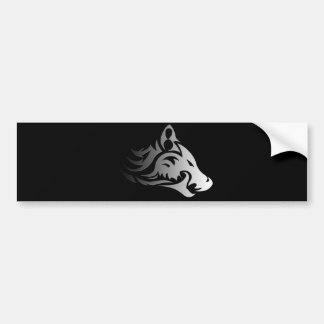 Tribal Wolf Bumper Sticker