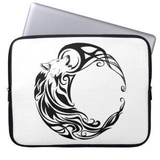 Tribal Wolf Laptop Sleeve