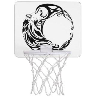 Tribal Wolf Mini Basketball Hoop