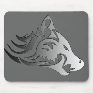 Tribal Wolf Mouse Mat