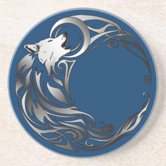 Tribal Wolf - Shaded Coasters