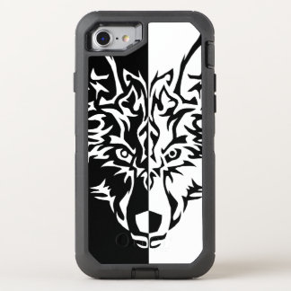 Tribal Wolf Style OtterBox Defender iPhone 8/7 Case