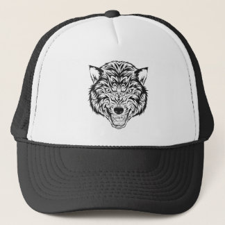 Tribal Wolf Trucker Hat