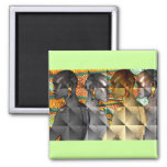 Tribal Women of Africa Square Magnet