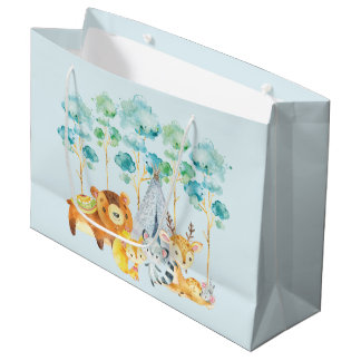 Tribal Woodland Animals Baby Shower Gift Bag