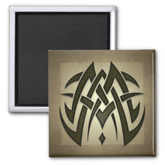 Tribal Woven Blades Square Magnet