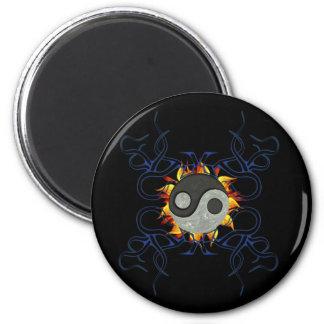 Tribal Ying Yang 6 Cm Round Magnet