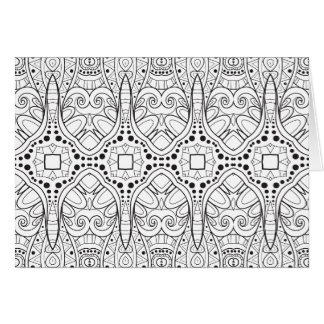 Tribal Zendoodle Design Card
