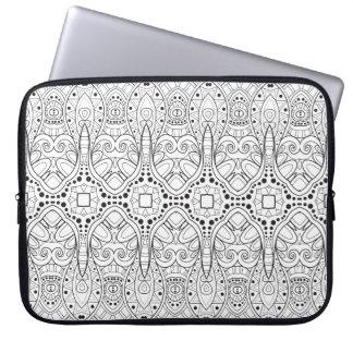 Tribal Zendoodle Design Laptop Sleeve