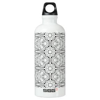 Tribal Zendoodle Design Water Bottle