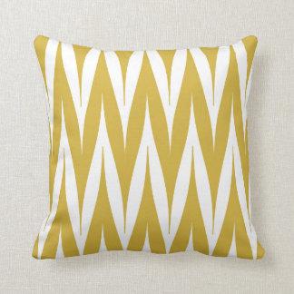 Tribal Zigzag Spike Pattern Mustard Yellow Cushions