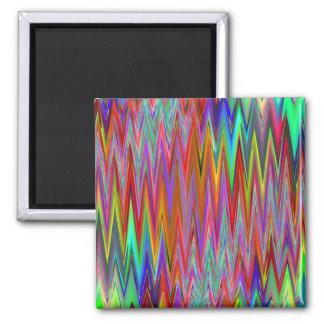 Tribal Zigzag Square Magnet