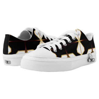TRIBAL ZIPZ Low Top Shoes, US Women 6.5 Printed Shoes