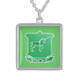 Tribe Of Ephraim Sterling Silver Square Necklace