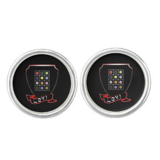 Tribe Of Levi Crest Men's Round Cufflinks