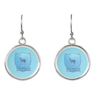 Tribe Of Naphtali Crest Drop Earrings