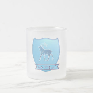Tribe Of Naphtali Crest Frosted Glass Mug