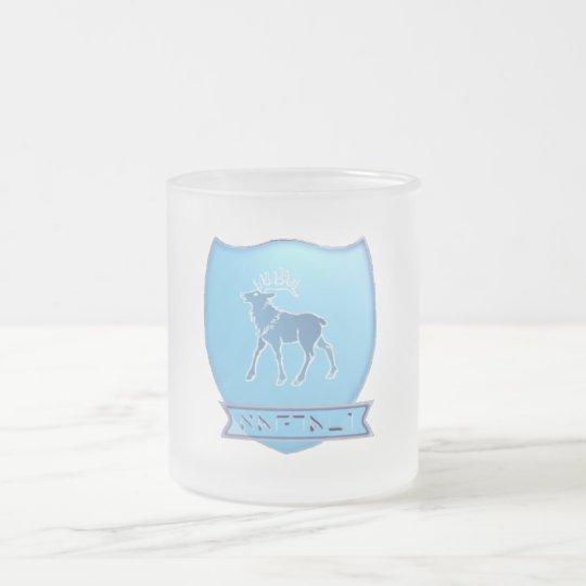 Tribe Of Naphtali Crest Frosted Glass Mug