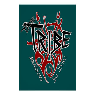 """Tribe Poster Large Teal [22.86"""" x 34.5""""]"""