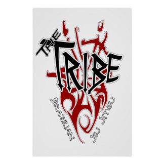 """Tribe Poster Large White[22.86"""" x 34.5""""]"""