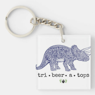 TriBEERatops Dictionary Keychain