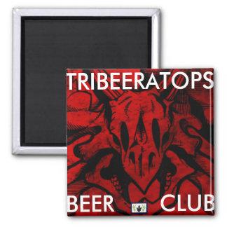 TriBEERatops Square Magnet