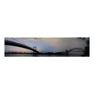 Triborough and Hell Gate Bridges Panorama Poster