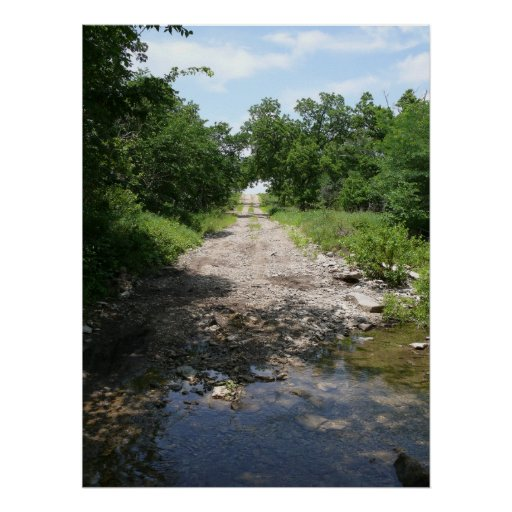 Tributary Crossing  - Township Road  Kansas Posters