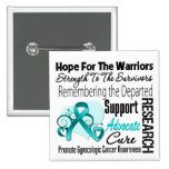 Tribute Hope Collage - Gynaecologic Cancer 15 Cm Square Badge