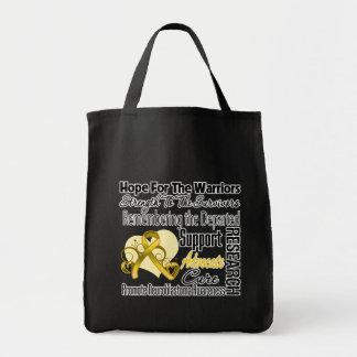 Tribute Hope Collage - Neuroblastoma Canvas Bags