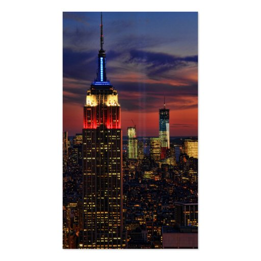 Tribute In Light Sept 11, World Trade Cntr ESB #1 Business Card Templates