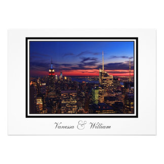 Tribute In Light Sept 11, World Trade Cntr ESB #2 Personalized Announcement