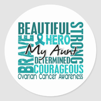 Tribute Square Aunt Ovarian Cancer Sticker