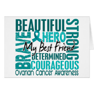 Tribute Square Best Friend Ovarian Cancer Greeting Card