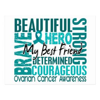 Tribute Square Best Friend Ovarian Cancer Postcard