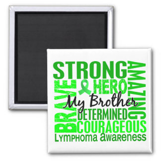 Tribute Square Brother Lymphoma Square Magnet