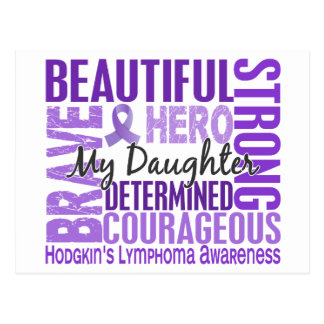 Tribute Square Daughter Hodgkins Lymphoma Postcard