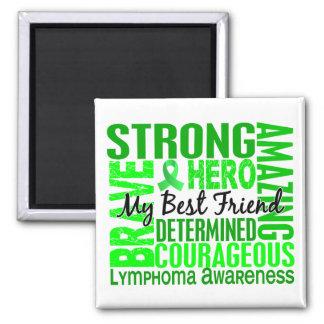 Tribute Square Male Best Friend Lymphoma Square Magnet