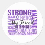 Tribute Square Male Friend Hodgkins Lymphoma Round Sticker