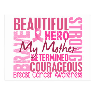 Tribute Square Mother Breast Cancer Postcard