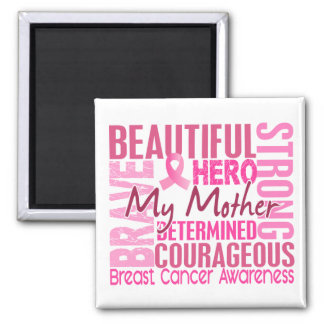 Tribute Square Mother Breast Cancer Square Magnet