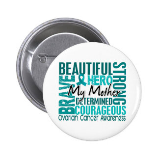 Tribute Square Mother Ovarian Cancer 6 Cm Round Badge