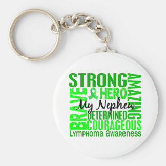 Tribute Square Nephew Lymphoma Basic Round Button Key Ring