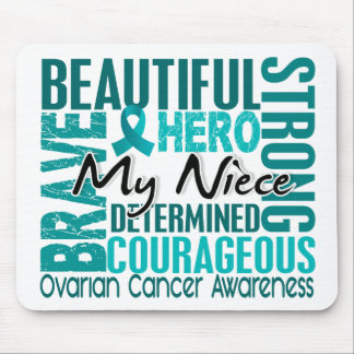 Tribute Square Niece Ovarian Cancer Mousepad