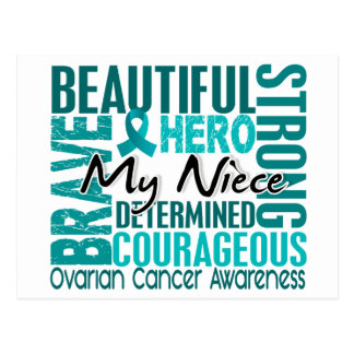 Tribute Square Niece Ovarian Cancer Postcard