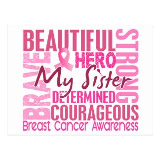Tribute Square Sister Breast Cancer Postcard