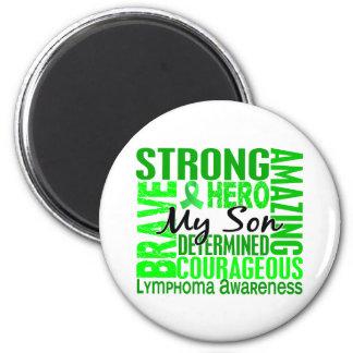 Tribute Square Son Lymphoma 6 Cm Round Magnet