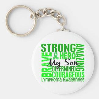 Tribute Square Son Lymphoma Basic Round Button Key Ring