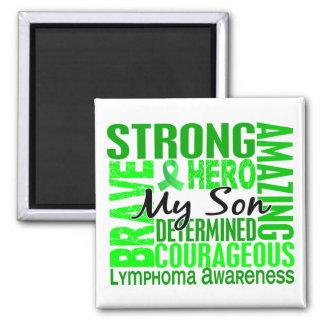 Tribute Square Son Lymphoma Square Magnet