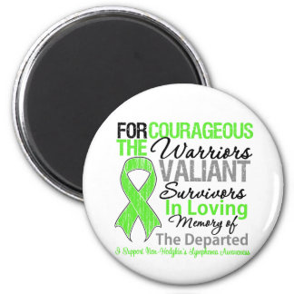 Tribute Support Non-Hodgkins Lymphoma Awareness 6 Cm Round Magnet